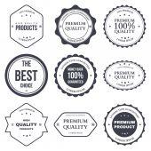 Zestaw retro starodawny odznaki i etykiety — Wektor stockowy
