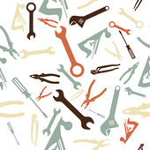 Patrón de herramientas de mano — Vector de stock