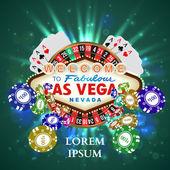 Фишки казино рулетка игральные карты witn падения — Cтоковый вектор