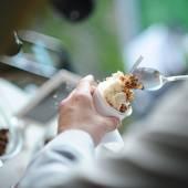 Making the ice cream — Stock Photo