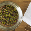 Mung Beans in Jar From Above — Stock Photo #65472781