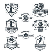 Basketball emblems — Stock Vector