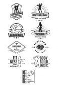 Bodybuilding emblems — Stock Vector