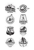 Surfing emblems — Stock Vector