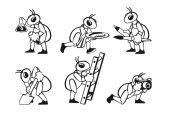 Ant profession set — Stock Vector