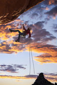 Climber on the edge. — ストック写真