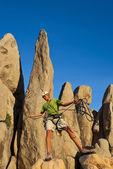Climber on the edge. — Stock Photo