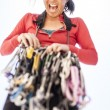 Female climber racking gear. — Stock Photo #69664385