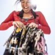 Female climber racking gear. — Stock Photo #69664407