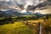 Summer landscape. Blue sky, mountains — Stock Photo