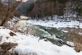 Small river in winter — Stock Photo
