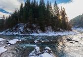 малые реки в зимний период — Стоковое фото