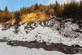 Pequeño río en invierno — Foto de Stock