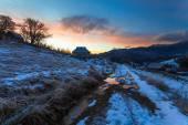 Fantastic winter landscape. Dramatic overcast sky. — Stock Photo