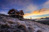 幻想的な冬の風景です。劇的な曇り空. — ストック写真