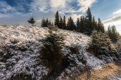 Dağlarda güzel kış peyzaj — Stok fotoğraf