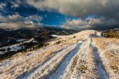Beautiful winter landscape in the mountains — Fotografia Stock