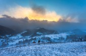 Snowstorm. Winter in the mountains — Photo