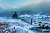 Snowstorm. Winter in the mountains — Stock Photo