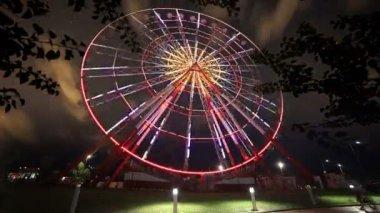 Time Lapse of ferris wheel in Batumi city, Georgia. — Stock Video