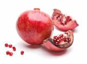 Zralé granátové jablko — Stock fotografie
