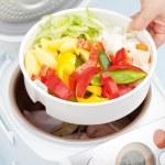 приготовление паривших овощей — Стоковое фото #62160857