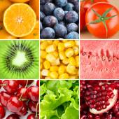 Healthy fresh food background — Stock Photo