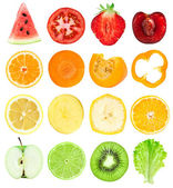 Fruit and vegetable slices — Stock Photo