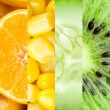 Collection with different fruits and vegetables — Stock Photo #62520347