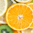 Orange, lemon and kiwi closeup — Stock Photo #62520571