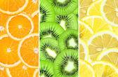 新鲜水果背景 — 图库照片
