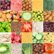 Collection of healthy food backgrounds — Stock Photo #62593661