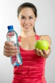 Woman in fitness — Stock Photo