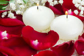 Sfondo di candele — Foto Stock