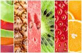 健康的な新鮮な果物の背景 — ストック写真