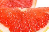 Fresh grapefruit slices closeup — Stock Photo