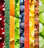 Background of healthy fruits and vegetables — Stock Photo