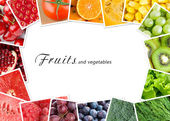 Fruits and vegetables concept — Stock Photo