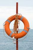 Záchranný kruh na pláži — Stock fotografie