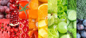 Color fruits, berries and vegetables — Stock Photo