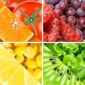 Verdure, bacche e frutti di colore fresco — Foto Stock
