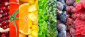 Collection of different fruits, berries and vegetables — Stock Photo