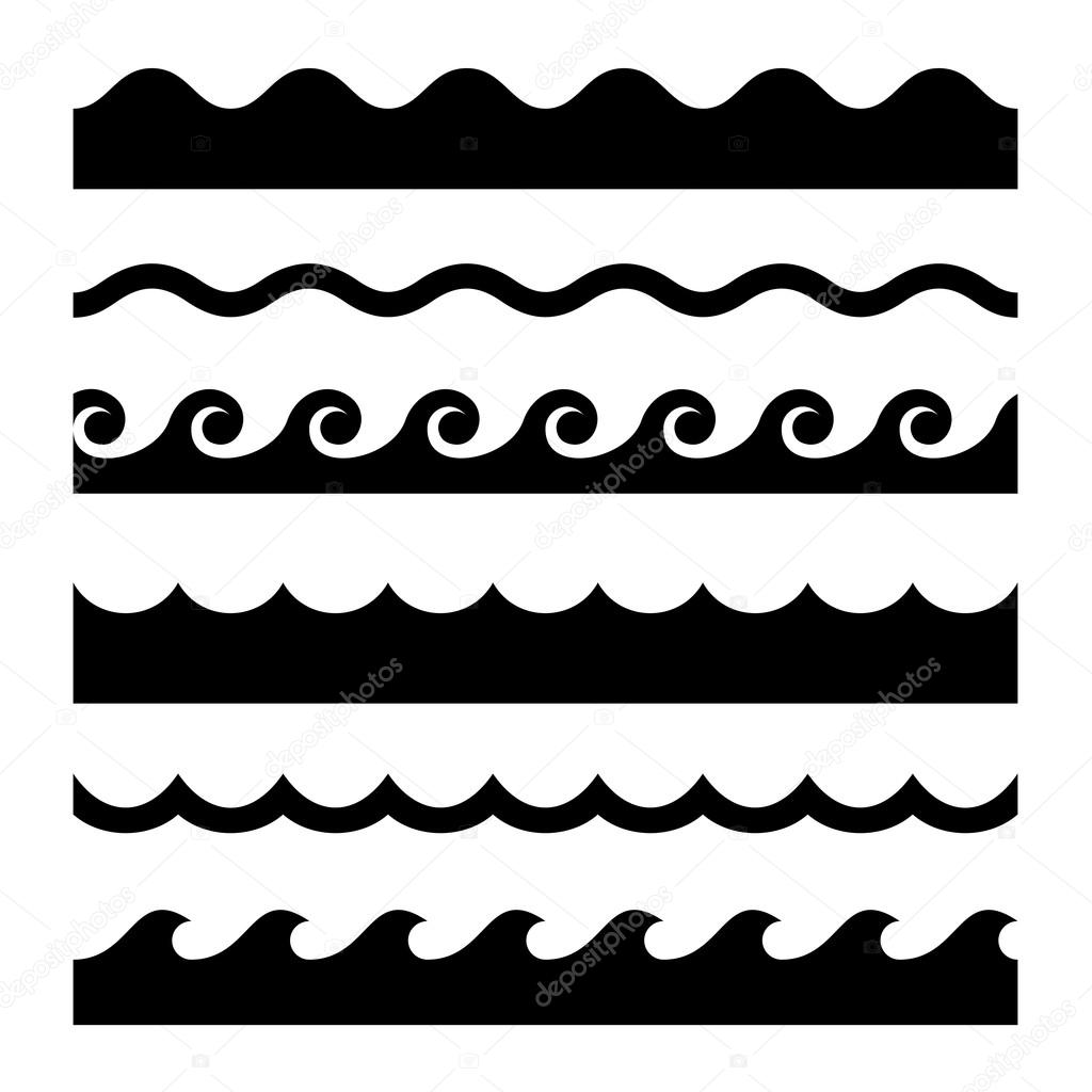 seamless wave pattern set  vector template  u2014 stock vector