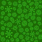 Bacteria Virus Microbe. Seamless Pattern. Vector — Stock Vector
