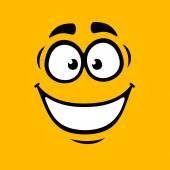 Cartoom Smile on Orange Background. Vector — Stock Vector