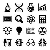 Science Icons Set. Vector — Stock Vector