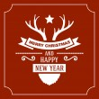 Greeting Christmas and New Year Card. Vector — Stock Vector #55772989