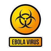 Ebola Yellow Danger Sign. Vector — Stock Vector