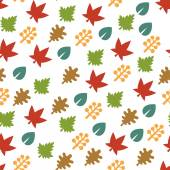 Seamless Pattern with Leaf Background. Vector — Stock Vector