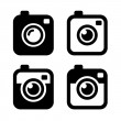 Hipster Photo or Camera Icons Set. Vector — Stock Vector #58351979